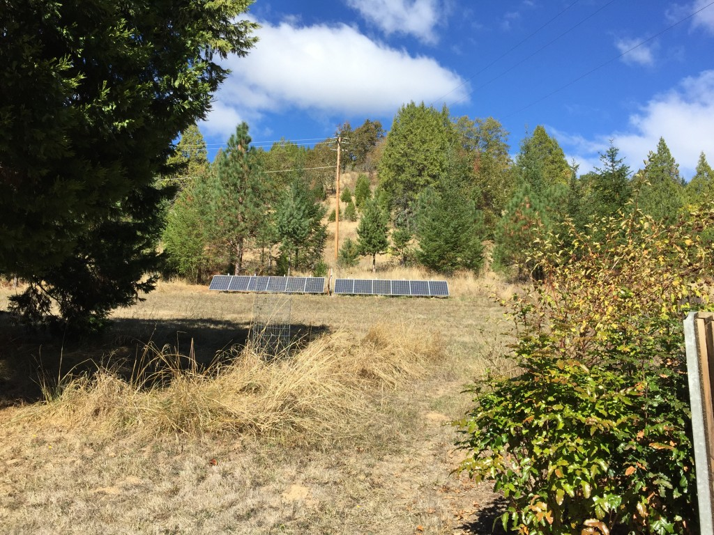 A solar installation in rural Douglas County, along Hwy 138.