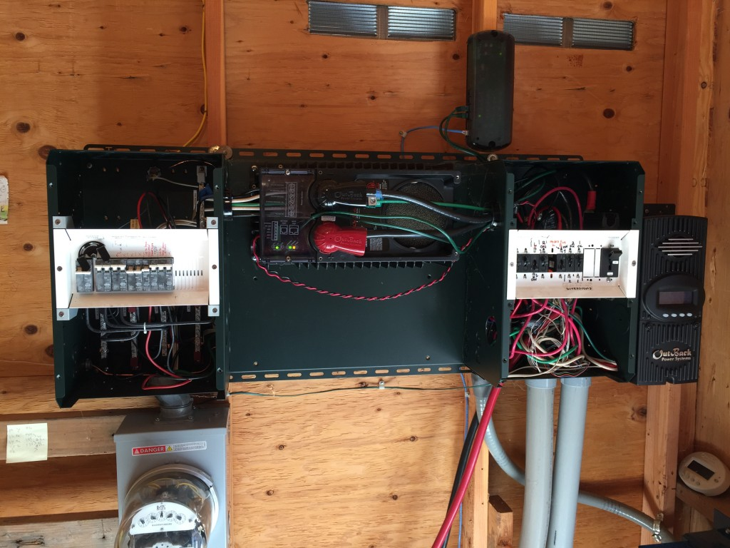 The inverter setup for one host's hydropower system.